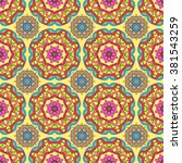 seamless pattern made from... | Shutterstock .eps vector #381543259