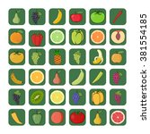 vector icons of fruits and... | Shutterstock .eps vector #381554185