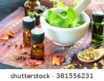 essential oils for aromatherapy ... | Shutterstock . vector #381556231