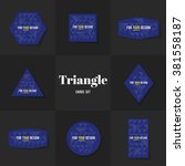 collection rhombus and triangle ... | Shutterstock .eps vector #381558187
