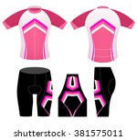 sports cycling clothing fashion ... | Shutterstock .eps vector #381575011
