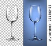transparent vector wineglass... | Shutterstock .eps vector #381580495