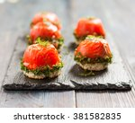 Canapes With Salmon And Curd...