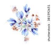 spring flowers bouquet | Shutterstock . vector #381592651