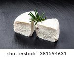 white cheese or feta cheese... | Shutterstock . vector #381594631