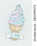 ice cream cone vector... | Shutterstock .eps vector #381599371