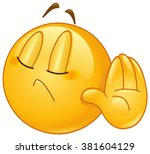 emoticon showing deny or refuse ... | Shutterstock .eps vector #381604129