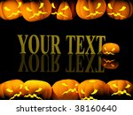 halloween background with evil... | Shutterstock . vector #38160640