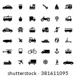 transport icons | Shutterstock .eps vector #381611095