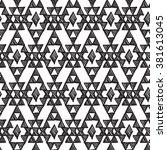 seamless geometrical ethnic... | Shutterstock .eps vector #381613045