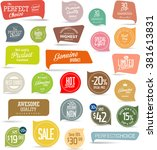 modern sale stickers collection | Shutterstock .eps vector #381613831