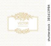 vector wedding invitation... | Shutterstock .eps vector #381613984