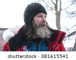 Small photo of Russian traveler Fyodor Konyukhov. Russia, Arkhangelsk Region, Onega, February 2016