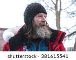 Small photo of Russian traveler Fyodor Konyukhov. Russia, Arkhangelsk Region, Onega, February 2016
