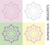 round vector ornament mandala.... | Shutterstock .eps vector #381615571