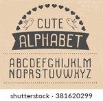 hand drawn vector alphabet....   Shutterstock .eps vector #381620299