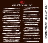 vector large set of chalk... | Shutterstock .eps vector #381624187