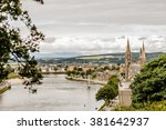 view on inverness city standing ... | Shutterstock . vector #381642937