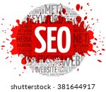 seo   search engine... | Shutterstock .eps vector #381644917