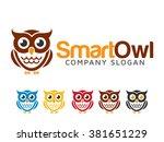 Stock vector owl logo 381651229