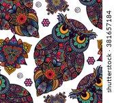 seamless pattern boho... | Shutterstock . vector #381657184