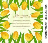 floral decorative card with... | Shutterstock .eps vector #381658405