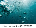 underwater air bubbles in the... | Shutterstock . vector #381670375