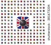 icon camera world flag travel... | Shutterstock .eps vector #381673204