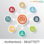 oil industry and factory... | Shutterstock .eps vector #381677077