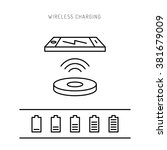 wireless charging phones.... | Shutterstock .eps vector #381679009