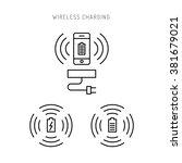 wireless charging phones....   Shutterstock .eps vector #381679021