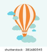 hot air balloon in the sky | Shutterstock .eps vector #381680545