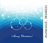 seasonal greetings template... | Shutterstock .eps vector #38168221