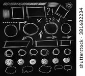 set doodle shapes for message.... | Shutterstock .eps vector #381682234