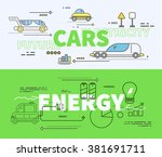 car of future energy... | Shutterstock .eps vector #381691711