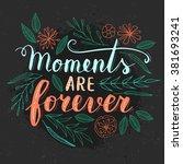 vector hand written quote ... | Shutterstock .eps vector #381693241