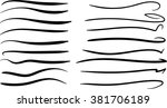 swoops swishes  brushes... | Shutterstock .eps vector #381706189