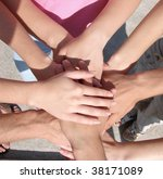 hands my friends | Shutterstock . vector #38171089