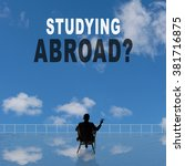 studying abroad  text on the... | Shutterstock . vector #381716875