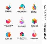 technology  laboratory ... | Shutterstock .eps vector #381719791