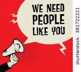 megaphone hand  business... | Shutterstock .eps vector #381722221