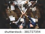 business people meeting... | Shutterstock . vector #381727354