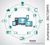 e  learning   webinar concept...   Shutterstock .eps vector #381728995