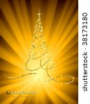 christmas abstraction. | Shutterstock .eps vector #38173180