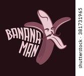 bananas logo  sticker  emblem.... | Shutterstock . vector #381731965