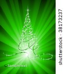 christmas abstraction. | Shutterstock .eps vector #38173237