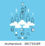 modern vector illustration... | Shutterstock .eps vector #381733189