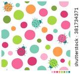 Colorful Ladybug And Dot...