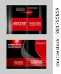 vector business brochure  flyer ... | Shutterstock .eps vector #381735859