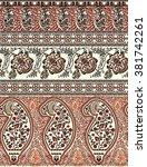 paisley tapestry hem border... | Shutterstock .eps vector #381742261